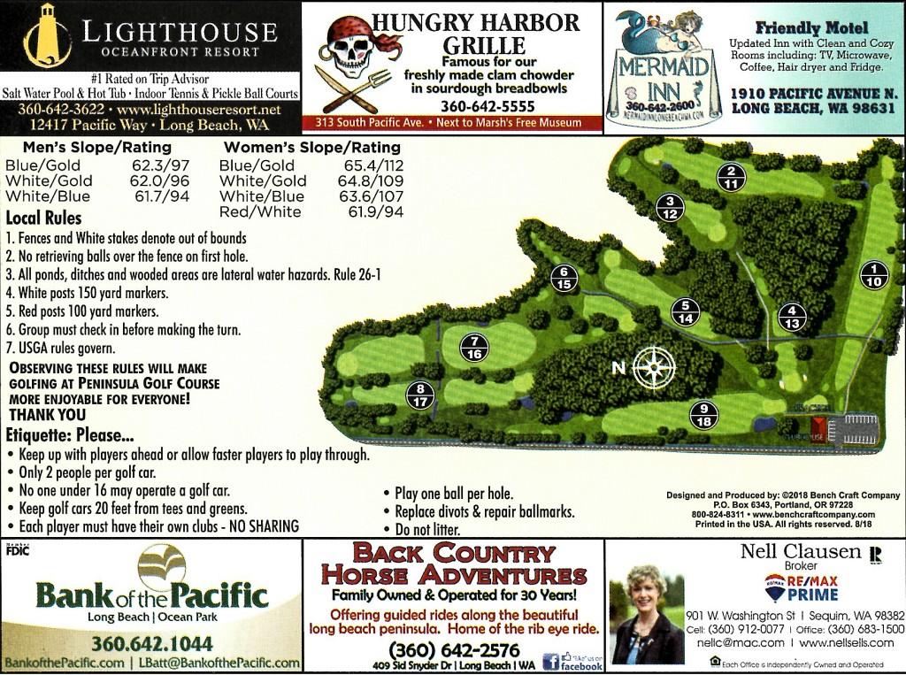 Course Map Peninsula Golf Course